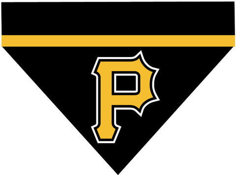 Baseball Dog Bandana - Pittsburgh Pirates LETTER