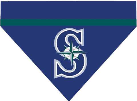 Baseball Dog Bandana - Seattle Mariners LETTER