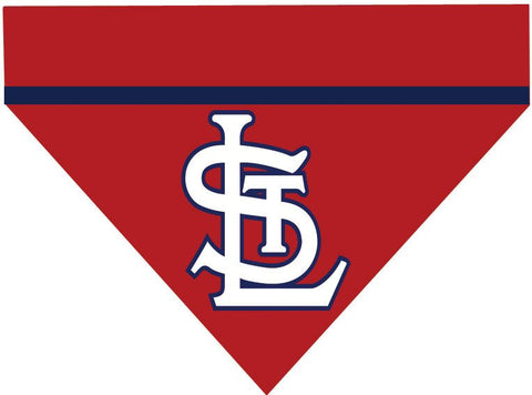 Baseball Dog Bandana - St Louis Cardinals LETTERS