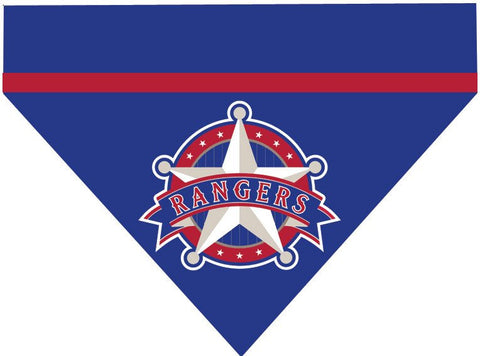 Baseball Dog Bandana - Texas Rangers
