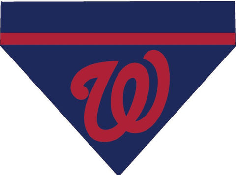 Baseball Dog Bandana - Washington Nationals LETTER