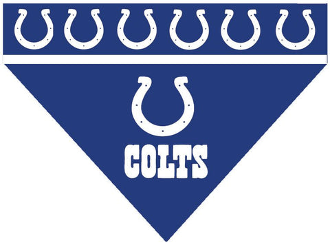 Over the Collar Dog Bandana - NFL Indianapolis Colts