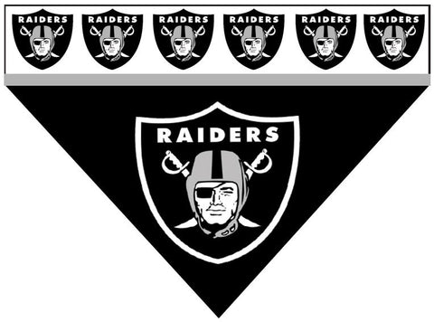 Over the Collar Dog Bandana - Oakland Raiders