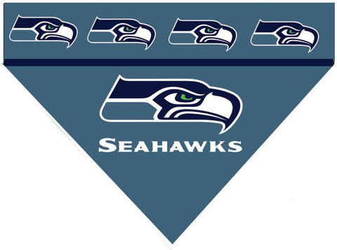 Over the Collar Dog Bandana - NFL Seattle Seahawks