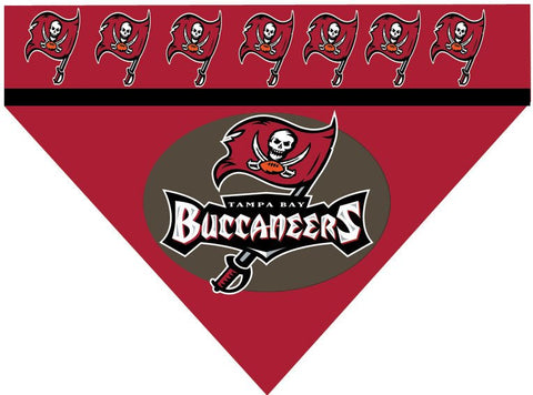 Over the Collar Dog Bandana - NFL Tampa Bay Buccaneers