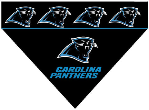 Over the Collar Dog Bandana - NFL Carolina Panthers