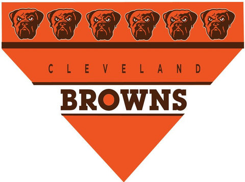 Over the Collar Dog Bandana - NFL Cleveland Browns