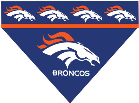 Over the Collar Dog Bandana - NFL Denver Broncos