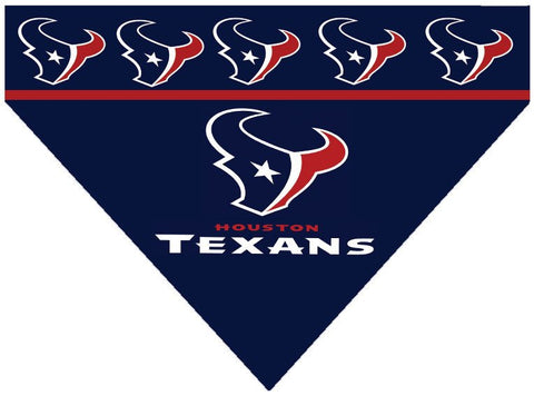 Over the Collar Dog Bandana - NFL Houston Texans