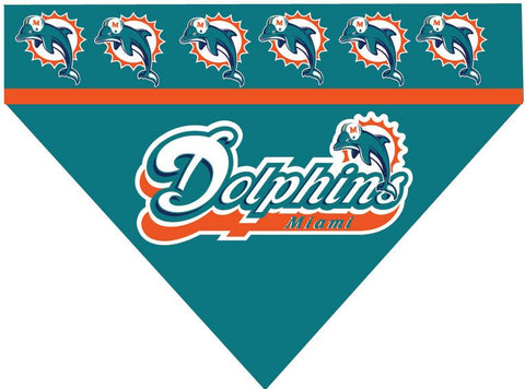Over the Collar Dog Bandana - Miami Dolphins