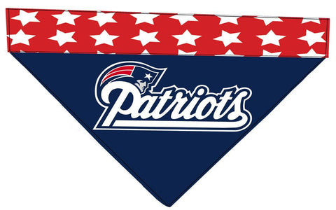 Over the Collar Dog Bandana - New England Patriots