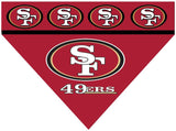 Over the Collar Dog Bandana - San Francisco 49ers