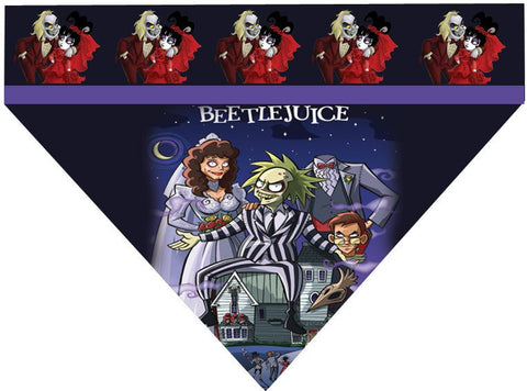 Halloween Over the Collar Dog Bandana - Beetlejuice Cartoon