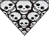 Halloween Skull Heads Over the Collar Dog Bandana