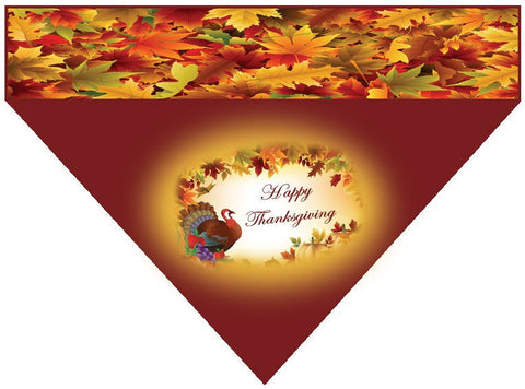Thanksgiving Over the Collar Dog Bandana - Happy Thanksgiving