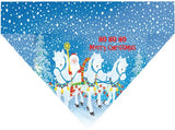 Christmas Over the Collar Dog Bandana - Christmas Ponies