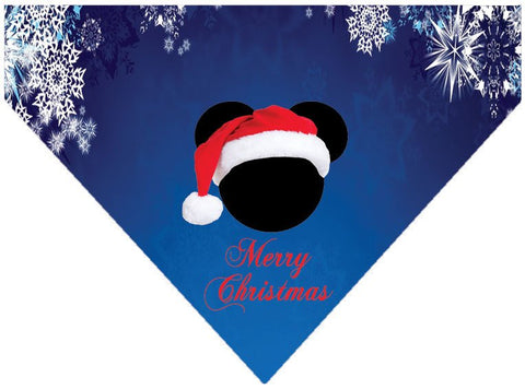 Christmas Over the Collar Dog Bandana - Merry Christmas Mickey