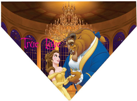 Valentine's Day Over the Collar Dog Bandana - Beauty and the Beast