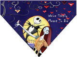 Valentine's Day Over the Collar Dog Bandana - Jack Skellington and Sally