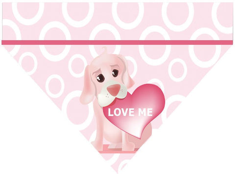 Valentine's Day Over the Collar Dog Bandana - Love Me