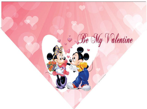 Valentine's Day Over the Collar Dog Bandana - Mickey and Minnie