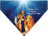 Valentine's Day Over the Collar Dog Bandana - Lady and the Tramp