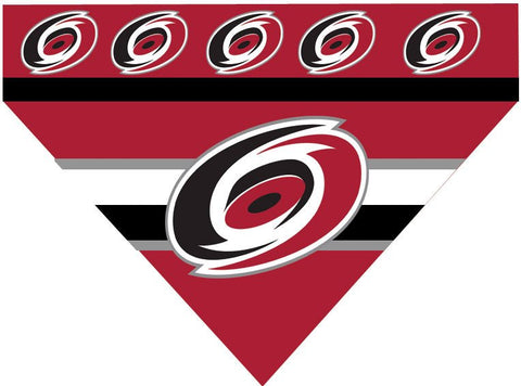 Over the Collar Dog Bandana -  Hockey Carolina Hurricanes