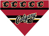 Over the Collar Dog Bandana - Hockey Calgary Flames