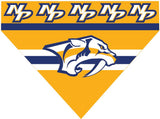 Over the Collar Dog Bandana - Hockey Nashville Predators