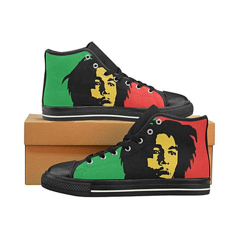 Bob Marley Mens Black Canvas Hightop shoes