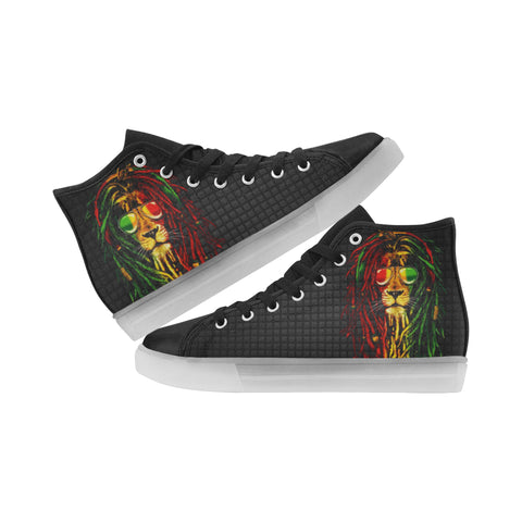 Led Shoes For Kids Rasta Lion Light Up Canvas High Top