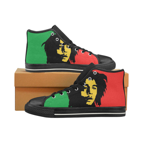 Bob Marley Black Womens Canvas Hightop(Large Size)