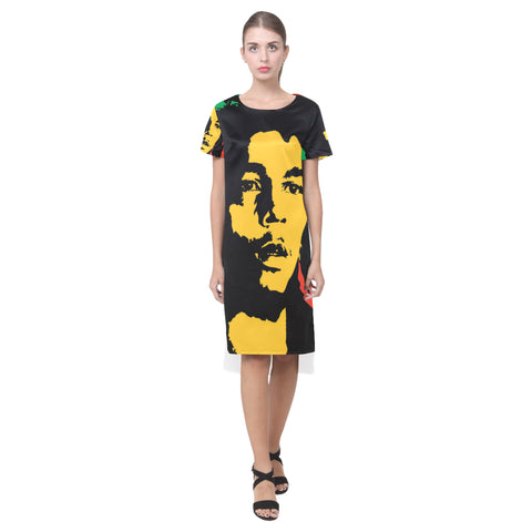 Bob Marley  Dress Short Sleeves Casual Dress