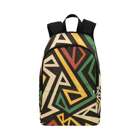 African / Rasta / african print backpack / Geometric design / Unisex / 100% Water Proof