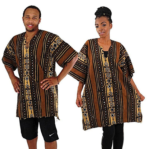 African Free Size Heavy Unisex Mud Cloth Shirts