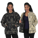 African Black & Beige Reversible MudPrint Jacket