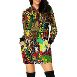 Rasta / Mini Dress Hoodie / Women extra Long Hoodie / hoodies / hoodies for women / women's hoodies
