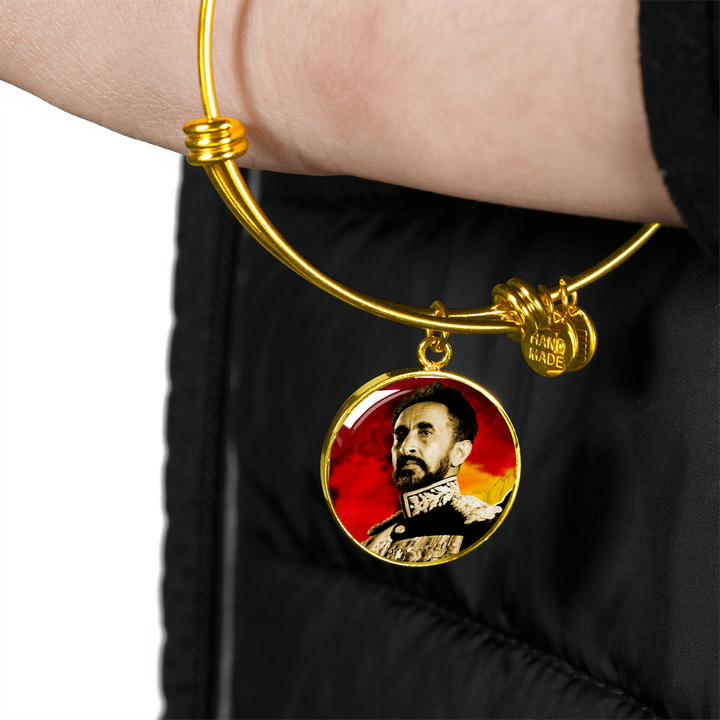 Rasta Selassie 18K Gold Necklaces for women Bangles Statement Necklaces