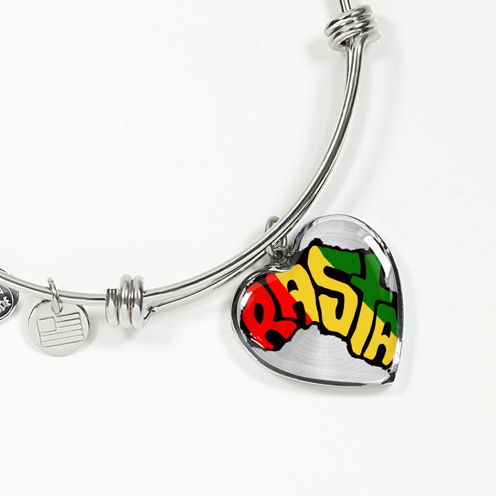 Rasta Real 18k Gold Adjustable Luxury Bangle with Luxury Chain variant option