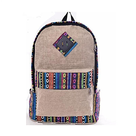 Canvas Laptop Bag School Backpack