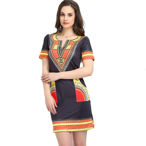 African ladies dashiki design dress top