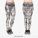 Green Leaf High Waist 3D Fitness Leggings