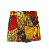 African batik print 2 pc Boys shirt and shorts set