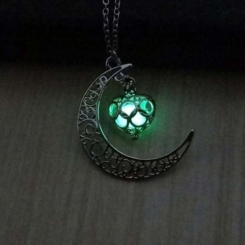 Moon Glowing Pendant Necklace