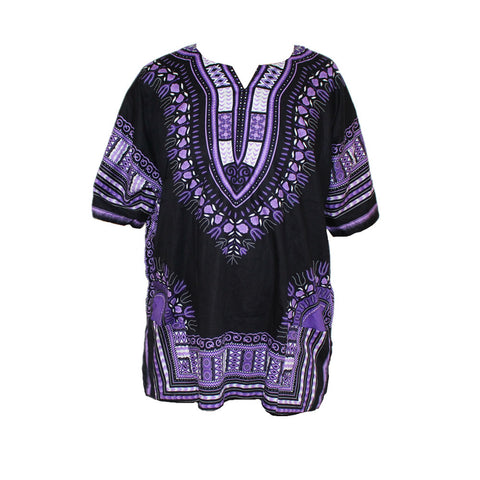 Unisex African dashiki fabric cotton shirt