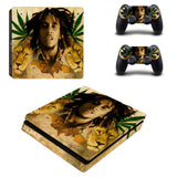 Bob Marley PVC PS4 Console And 2 Controllers Sticker Covers