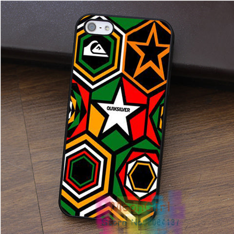 Quicksilver Ethnic Pattern Rasta cell phone case for iphone