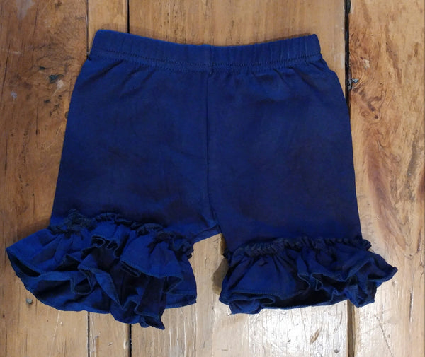 Navy Blue Ruffle Shorts