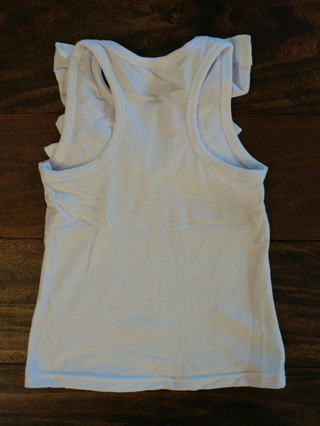 Ivory Front Ruffle Tank Top