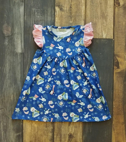 Princess and Little Creatures Winter Wonderland Pearl Milk Silk Dress
